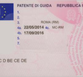 Patente B a 140€
